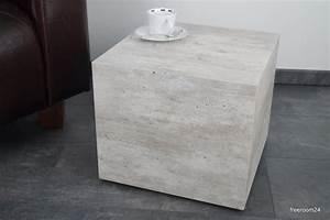 Couchtisch Aus Beton : couchtisch beistelltisch oskar beton optik 40 x 40 x 42cm freeroom24 ~ Indierocktalk.com Haus und Dekorationen