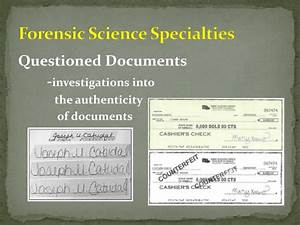 ppt forensic science powerpoint presentation id1519483 With questioned documents forensic science