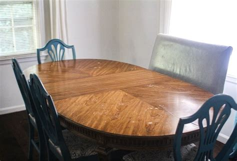 refinish  worn  dining room table lovely