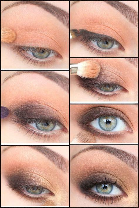brown eye makeup tutorial senior banquet hair