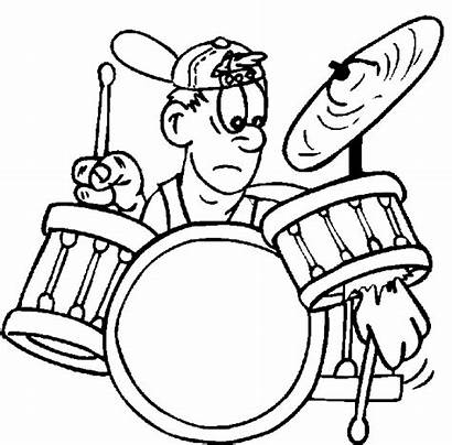 Coloring Drum Drums Pages Drummer Rock Roll
