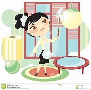 Housemaid Will Sweep Away A Dust Stock Vector ...