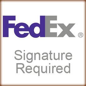 fedex signature required option