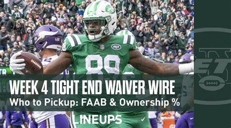 week  te waiver pickups adds fantasy football faab
