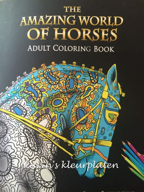 the amazing world of horses coloring book review adult