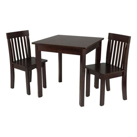 2 chair table set kidkraft avalon table and 2 chairs set in espresso 26643