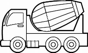cement mixer coloring pages With simple mixer