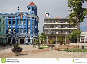 Plaza De Los Trabajadores In Camagüey, Cuba Editorial ...