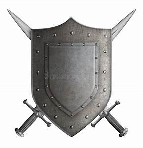 Medieval Coat Of Arms Knight Shield And Two Swords Stock ...