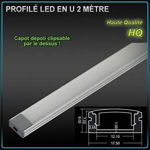 Eclairage Led En Ruban : profil aluminium ruban led en u 2 m tres eclairage led ~ Premium-room.com Idées de Décoration