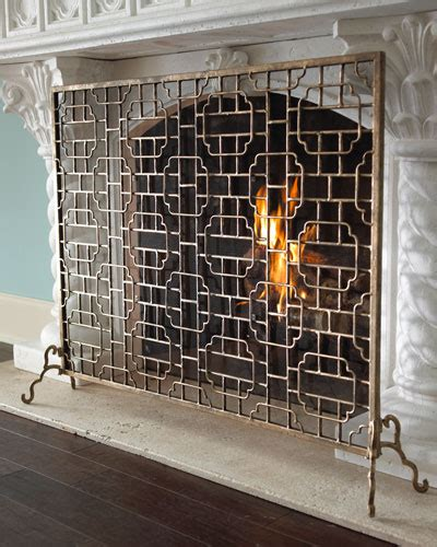 fireplace screens mantels  horchow