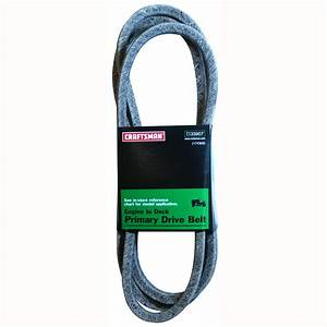Craftsman 48 U0026quot  Cut Lawn Tractor Engine To Deck Primary Drive Belt - Lawn  U0026 Garden