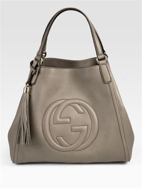 gucci soho medium shoulder bag  gray lyst
