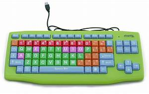 Plugable, Usb, Kids, Computer, Keyboard, With, Extra-large, Color-coded, Keys, -, Walmart, Com