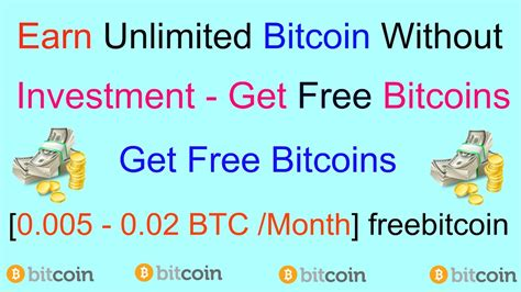 How To Earn Bitcoins Fast Without Investment Bitcoin