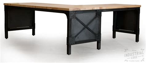 metal table l shades hand crafted modern l shaped ash top and steel desk wood