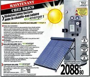 Adoucisseur D Eau Brico Depot : chauffe eau solaire chez brico d p t ~ Edinachiropracticcenter.com Idées de Décoration