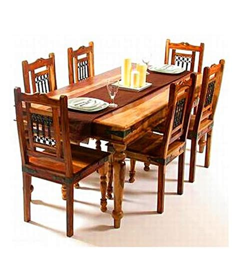 indian hub dining table set with 6 chair buy at