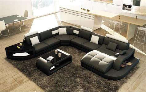 cdiscount canape canapé d 39 angle design panoramique istanbul noir et blanc