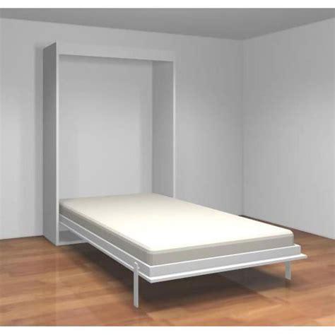 armoire lit canapé pas cher teo armoire lit escamotable 140 cm blanc mat achat