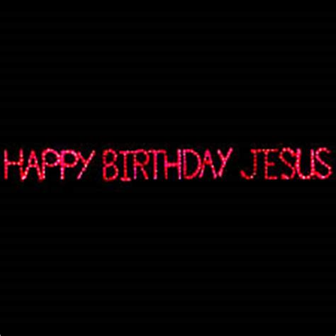lighted happy birthday jesus