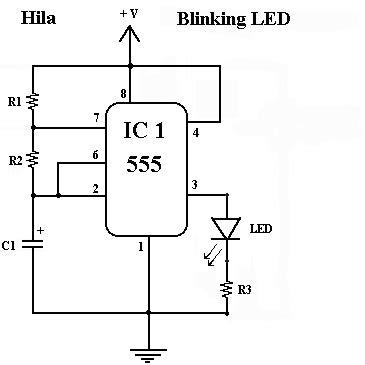 Blinking Ledcircuit Electrical Circuit Used