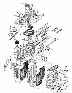 Evinrude Carburetor Group Parts For 1968 65hp 65832b