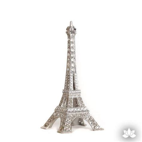 Small Eiffel Tower Cake Topper  Silver Caljavaonline