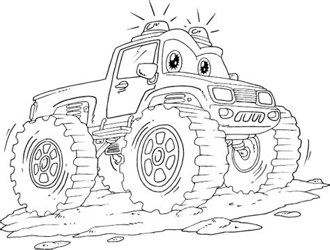 emergency monster truck coloring page coloringcom