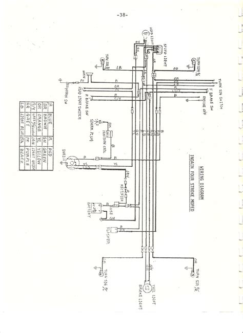 indian chief wiring diagram  cc moped army