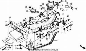 Honda Cd4542 Sa  42 U0026quot  Mower Deck  Jpn  Vin  Rzau
