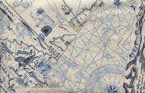MAP, NAUTICAL, VINTAGE, FABRIC, BLUE, NAVY, TEXTURE ...