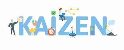 Kaizen Concept Illustration Vector Background Letters Icons