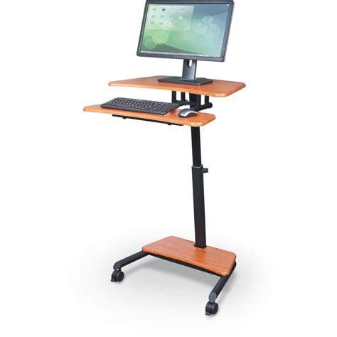 sit and stand desk balt 90459 up rite workstation mobile adjustable sit and