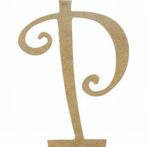 14quot decorative wooden curly letter p ab2160 With curly wooden letters
