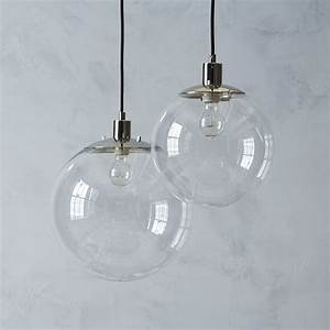 Globe pendant west elm modern lighting