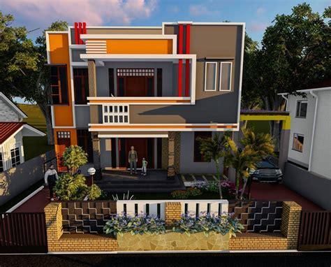 desain rumah minimalis  lantai  atap