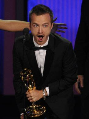 aaron paul wins emmy 2010 aaron paul makes the move from meth to speed