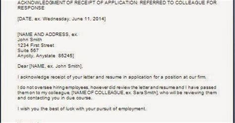 Applicant Resume Acknowledgement by Every Bit Of Application Acknowledgement Letter
