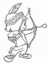Coloring Teepee Wigwam Printable Indian sketch template