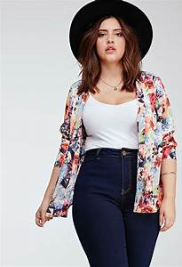 5 plus size outfits with high waisted jeans for spring - Page 5 of 6 - curvyoutfits.com