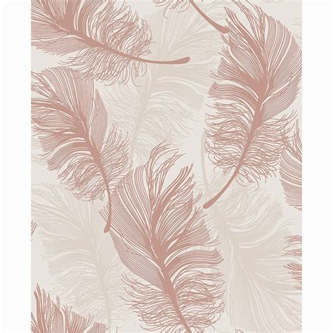 plume foil wallpaper gold diy b m