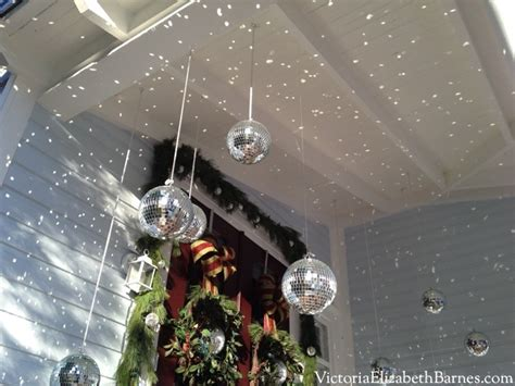 disco ball christmas lights our victorian front porch decorated for christmas a diy