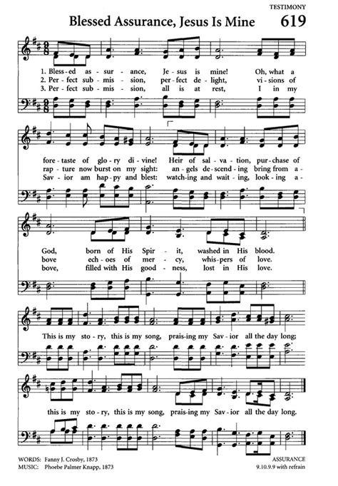 Blessed Assurance Chords
