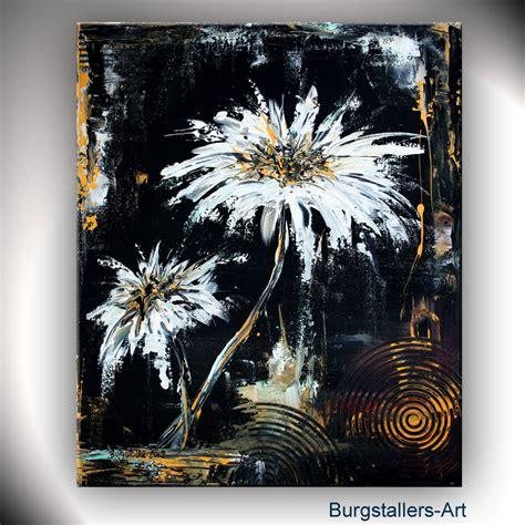 Bilder In Acryl by Burgstaller Abstrakt Acrylbild Original Blumen Bild Modern