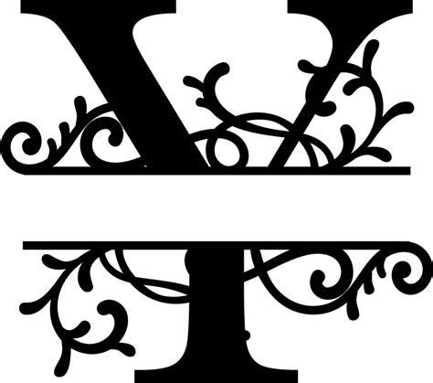 flourished split monogram  letter eps  vector  axisco