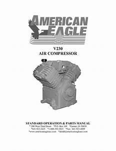 V230 Air Compressor Standard Operation  U0026 Parts Manual