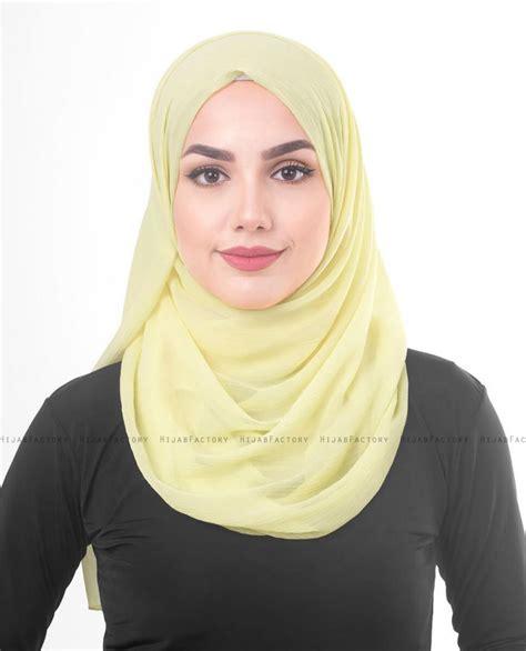 tender yellow jaune clair polychiffong hijab