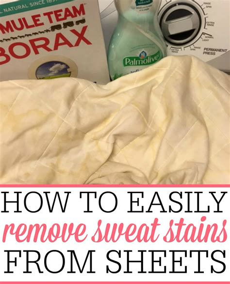 image may contain kitchen and how to easily remove sweat stains from sheets blankets