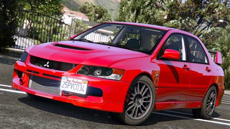 mitsubishi evo mitsubishi lancer evolution ix mr add on gta5 mods com